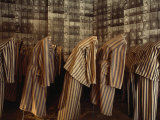 Display of Photographs and Uniforms of Concentration Camp Victims, Auschwitz, Poland Photographic Print by James L. Stanfield