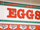 Eggs Grocery Store Sign, California Photographic Print by James Forte