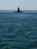 Orient Point Lighthouse Amid Dangerous Currents of Plum Gut Photographic Print by Todd Gipstein