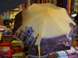 Rear View of Woman Shopping in Market with Umbrella, Florence, Italy Photographic Print by  Brimberg & Coulson