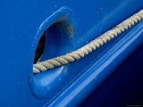 Rope Exiting Through the Bright Blue Window of a Research Boat, Groton, Connecticut Photographic Print by Todd Gipstein