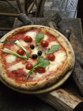 Pizza on Display Outside a Restaurant, Florence, Italy Photographic Print by  Brimberg & Coulson