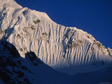 Last Light on the Snow Fluting on the West Ridge of Mount Hunter, Alaska Photographic Print by Bill Hatcher