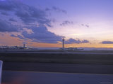 Denver International Airport from the Runway at Sunset Photographic Print by James Forte