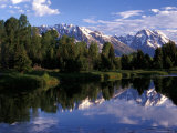 Reflection of the Teton Mountans in Snake River Photographic Print by Richard Nowitz