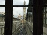 Piazza Della Signoria, Uffizi Gallery, Florence, Italy Photographic Print by  Brimberg & Coulson