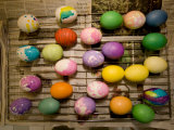 Easter Eggs Drying on a Rack, Lexington, Massachusetts Photographic Print by Tim Laman