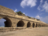 Remains of a Roman Aqeduct in Ceasarea, Israel Photographic Print by Richard Nowitz