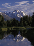 Reflection of the Teton Mountains in Snake River Photographic Print by Richard Nowitz
