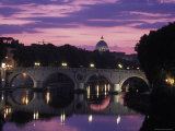 Saint Peter's Basilica Church and the Tiber River, Rome, Italy Photographic Print by Richard Nowitz