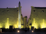 Luxor Temple with Obelisk and Entrance to Pylon at Luxor, Egypt Photographic Print by Richard Nowitz