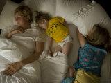 Family Sleeps in a Hotel, Lincoln, Nebraska Photographic Print by Joel Sartore