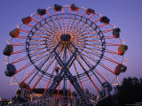 People Ride an Upsidedown Ferris Wheel in Wildwood, New Jersey Photographic Print by Richard Nowitz