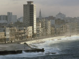 Decaying Facades in Havana's Malecon Await Restoration Photographic Print by James L. Stanfield