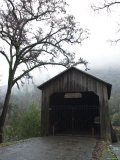 Honey Run Three-Level Covered Bridge Entrance View, California Photographic Print by James Forte