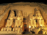 Night Shot of the Entrence to the Temple of Ramses II in Abu Simbel, Egypt Photographic Print by Richard Nowitz