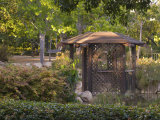 Gazebo in Outdoor Garden, Santa Barbara, California Photographic Print by James Forte