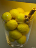 Lemons on Display in Italian Gelateria, Florence, Italy Photographic Print