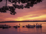 People at the Marina at Sunset in Wellseley Island in New York Photographic Print by Richard Nowitz