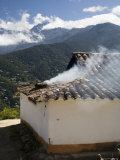 Kitchen Smoke Rising from an Andean Home, Venezuela Photographic Print by David Evans