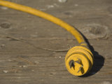 Electrical Cord and Twist Lock Plug, California Photographic Print by James Forte
