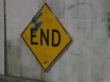 End Sign at the End of a Street, Brooklyn, New York Photographic Print by Todd Gipstein