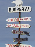 Norway, Directional Sign on Bear Island Photographic Print by  Brimberg & Coulson