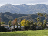 Monte Via Neighborhood and the Santa Ynez Mountains, California Photographic Print by Rich Reid