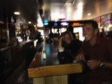 Man and a Woman Share a Beer and a Laugh at a Bar, Utah Photographic Print by Dawn Kish