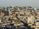 San Francisco Skyline from the Top of Polk Street, California Photographic Print by Rich Reid