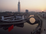 Huitong Grand Canal, Dawn View of Downtown Jining City, Shandong Province, China Photographic Print by James L. Stanfield