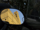 Reflection in Mirror of Palazzo del Bargello, Florence, Italy Photographic Print