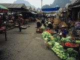 Market Scene in Bai Chay near Halong Bay, Vietnam Photographic Print by Bill Hatcher