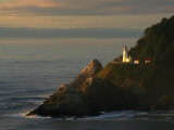 Distant View of the Heceta Head Lighthouse on the Oregon Coast Photographic Print by Phil Schermeister