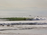 Nice Waves and Surfer Getting Barreled at Faria Beach, California Photographic Print by Rich Reid