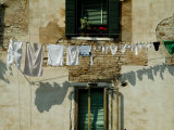 Laundry Hanging on a Line in Venice, Italy Fotoprint van Todd Gipstein