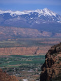 Moab Valley and the la Sal's from Hidden Valley Trail, Utah Photographic Print by Bill Hatcher