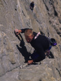 Male Rock Climbing in the Big Horn Mountains of Wyoming Photographic Print by Bobby Model