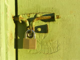 Metal Lock on a Garage, Ventura, California Photographic Print by Stacy Gold