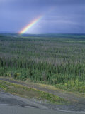 Rainbow and the Copper River, Alaska Photographic Print by Rich Reid