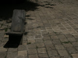 Rustic Wood Chair on Cobblestone, San Cristobal de Las Casas, Mexico Photographic Print by Gina Martin