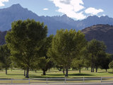 Mount Whitney Golf Club Course and the Eastern Sierra Mountains, California Photographic Print by Rich Reid