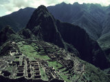 Machu Picchu, A Pre-Columian Inca Ruin Located in the Andes Mountains Photographic Print by Ira Block