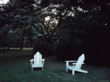 Lawn Chairs Encouraging One to Relax in a Shady Yard Photographic Print by Ira Block