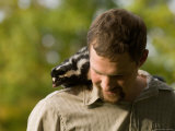 Man Holds a Spotted Skunk in Missouri Photographic Print by Joel Sartore