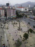 Market Square from Above, Qinghai, China Photographic Print by David Evans