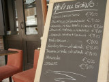 Menu Outside a Cafe in Ravenna, Italy Photographic Print by Gina Martin