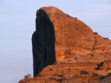 Light on a Mini Half Dome Rock Formation in Canyonlands, Utah Photographic Print by Rich Reid