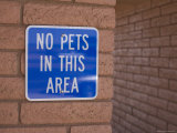 No Pet Sign at Rest Stop, Arizona Photographic Print by John Burcham