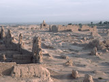 Ruins of the Ancient City of Jiaohe near Turpan, China Photographic Print by Ira Block